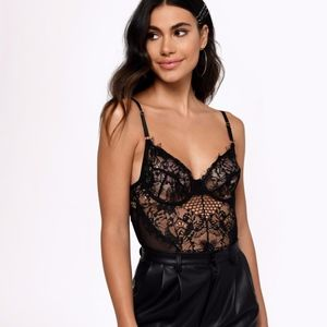 Tobi NIGHT AFTER NIGHT BLACK LACE BODYSUIT